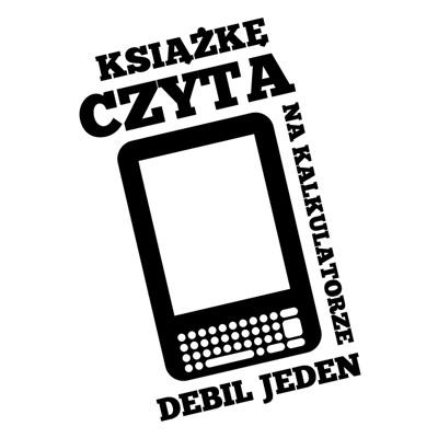 Ilustracja porównująca kalkulator do czytnika ebooków