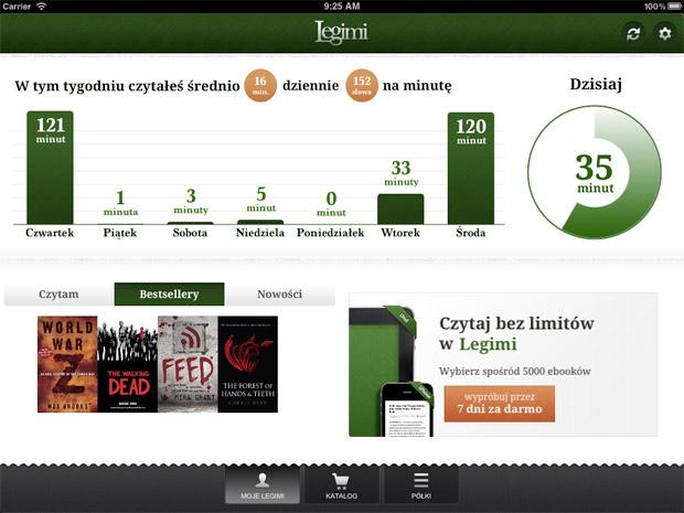 Tak wygląda aplikacja Legimi