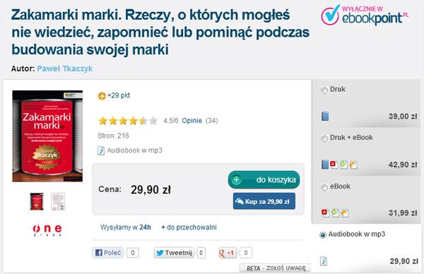 Zrzut ekranu pozycji książkowej w ebookpoint